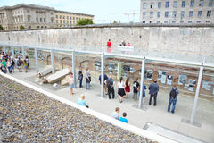 Topography of Terror, Holocaust museum in Berlin. It rises on the ruins of the SS headquarters stock photography