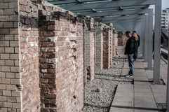 Topography of Terror museum, Berlin, Germany. Museum of the topography of terror in Berlin. Located on Niederkirchnerstrasse, the site of buildings which during stock photo