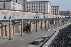 Topography of Terror museum, Berlin, Germany. Museum of the topography of terror in Berlin. Located on Niederkirchnerstrasse, the site of buildings which during royalty free stock photo