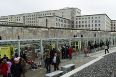Topography of Terror an open-door museum which d Royalty Free Stock Image