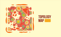 Topography vector map. terrain height slices. Simple infographic and diagramm. Topography vector map. terrain height slices. Simple infographic and charts Stock Photos