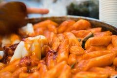 Topoki韩国街道食物 免版税库存照片