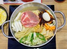 Topokki,yopokki, korean food in boil pot Royalty Free Stock Photos