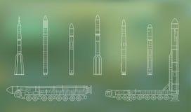 Topol-M e razzi 2 Fotografie Stock Libere da Diritti