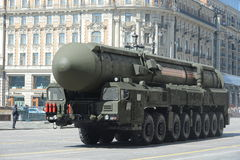 The Topol-M intercontinental ballistic nuclear missile complex strategic purpose. Stock Photography