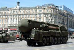 Topol-M jądrowego pociska międzykontynentalnego balistycznego kompleksu strategiczny purpose Obrazy Stock