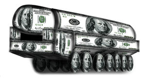 Topol-M  made from dollars Royalty Free Stock Photos