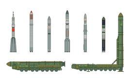 Topol-M und Raketen 3 Stockbilder
