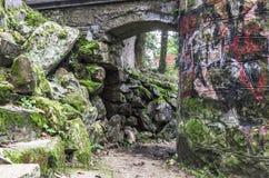 Topolcianky. Park on autumn in Slovakia royalty free stock photos