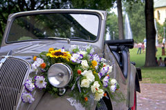 Topolino. Italian historian convertible car decorated with flowers Stock Photo