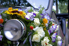 Topolino. Italian historian convertible car decorated with flowers Royalty Free Stock Photography