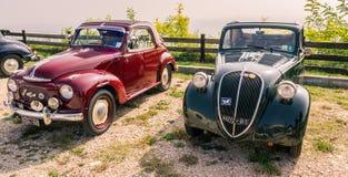 Topolino Autoclub Italia organizes a gathering on Lake Garda. Verona, Italy - September 27, 2014: Topolino Autoclub Italia organizes a gathering on Lake Garda Stock Photos