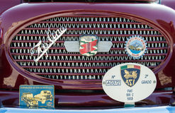 Topolino car detail. VERONA, ITALY - SEPTEMBER 27: Topolino car. Topolino Autoclub Italia organizes a gathering on Lake Garda Sunday, September 27, 2014. Cars Stock Images