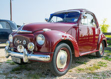 Topolino car. VERONA, ITALY - SEPTEMBER 27: Topolino car. Topolino Autoclub Italia organizes a gathering on Lake Garda Sunday, September 27, 2014. Cars and Royalty Free Stock Image