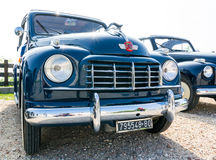 Topolino cars. VERONA, ITALY - SEPTEMBER 27: Topolino Autoclub Italia organizes a gathering on Lake Garda Sunday, September 27, 2014. Cars and enthusiasts from Royalty Free Stock Photography