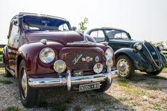 Topolino cars. VERONA, ITALY - SEPTEMBER 27: Topolino Autoclub Italia organizes a gathering on Lake Garda Sunday, September 27, 2014. Cars and enthusiasts from Stock Image