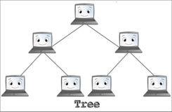 Topologia della rete dell'albero Immagine Stock
