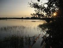 Topolowa rzeka Obrazy Royalty Free