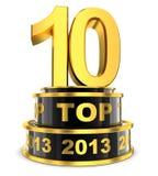 Topp 10 av året Royaltyfria Bilder
