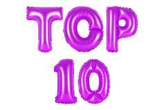 Topp 10 lilafärg Arkivfoto
