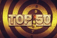 Topp 50 mål Royaltyfria Bilder