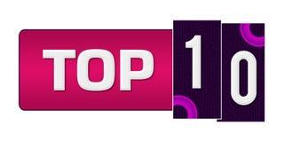 Topp 10 purpurfärgad rosa färgcirkelstång Royaltyfri Foto