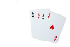 Topp- spela kortpoker Arkivfoto