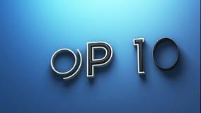 TOPP 10 textanimering stock video