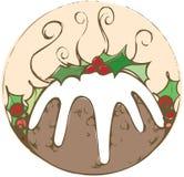 Toppa del budino di Natale fotografia stock