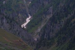 Toppa del ghiacciaio Immagini Stock