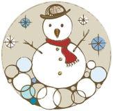 Toppa del pupazzo di neve di Natale Fotografie Stock