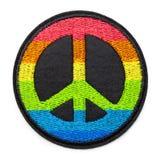 Toppa di pace dell'arcobaleno immagine stock libera da diritti
