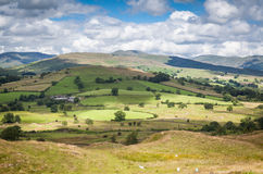 Toppe di luce solare in Cumbria, Regno Unito Fotografia Stock Libera da Diritti