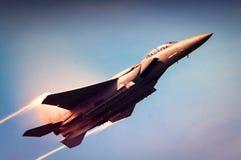 Toppen bålgeting för marin F-18 Arkivfoto