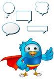 Toppen blåttfågel - framlägga Royaltyfri Bild