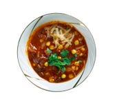 Toppen Chorizo Chili Bowls arkivfoton