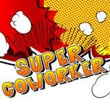 Toppen Coworker - humorbokstilord vektor illustrationer