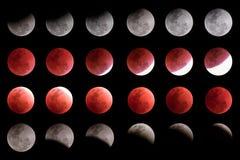 Toppen för månetimeline för blått blod samling Royaltyfri Fotografi
