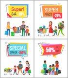 Toppen försäljning med det speciala erbjudandet för stora köp royaltyfri illustrationer