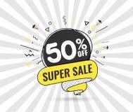 Toppen försäljning, specialt erbjudande för helg stock illustrationer