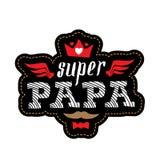 Toppen far - t-skjorta tryck med spansk text Lycklig dag för fader` s royaltyfri illustrationer