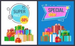 Toppen illustration för vektor för symbol för specialt erbjudande för pris stock illustrationer