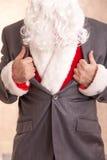 Toppen jultomten fotografering för bildbyråer