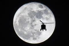 Toppen måne Arkivfoto
