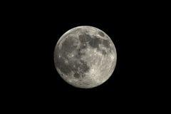 Toppen måne: mån- perigeum 12 juli 2014 Arkivbilder
