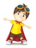 Toppen pojke Arkivbild