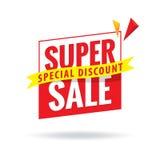 Toppen Sale överskriftdesign för baner eller affisch Sale och discoun Arkivbilder