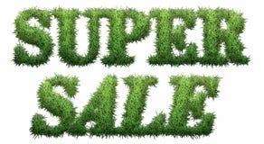 Toppen Sale text som göras av gräs Fotografering för Bildbyråer