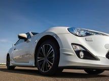 Toppen sikt för sportbil Arkivbilder