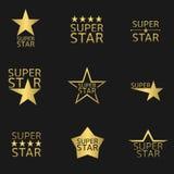 Toppen stjärna Arkivfoto